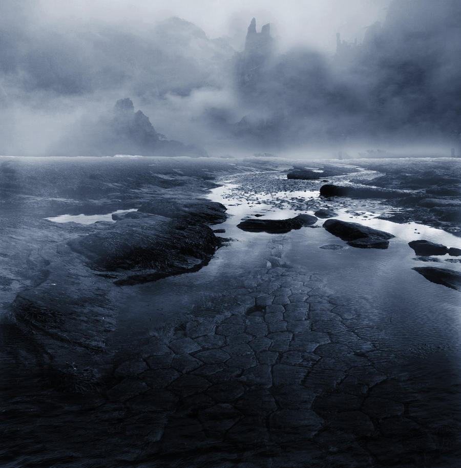 Premade BG Mist Water II by E-DinaPhotoArt