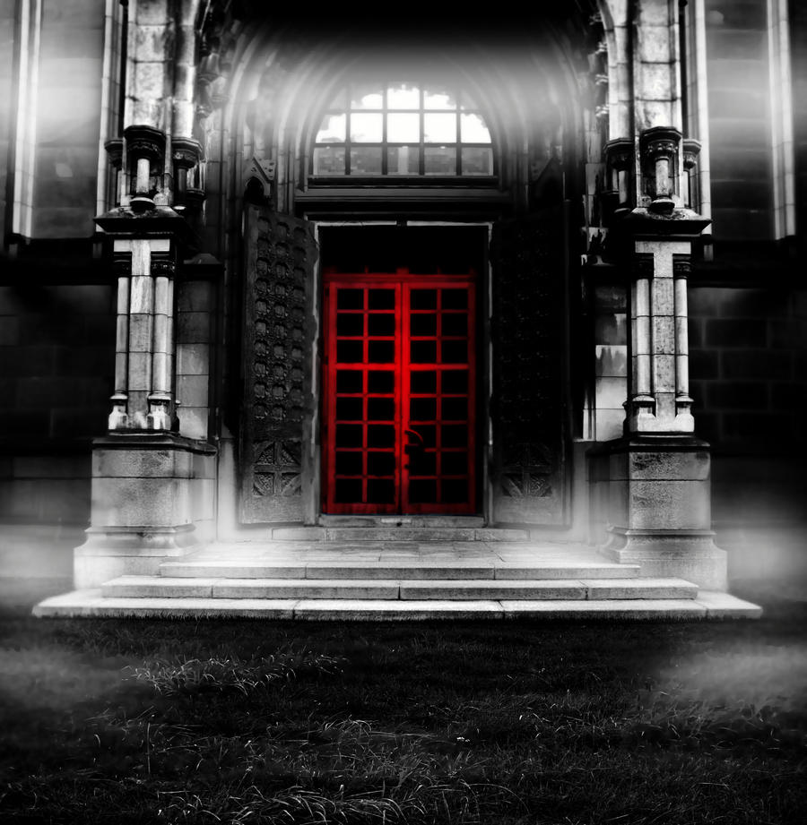 Premade BG The Red Door by E-DinaPhotoArt
