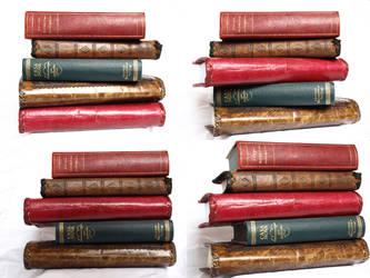 Stock Book stack by E-DinaPhotoArt