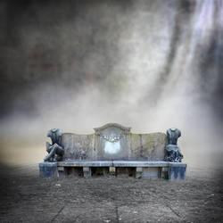 Premade BG Stonebench in a misty mood by E-DinaPhotoArt