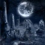 Premade BG Graveyard in Moonlight