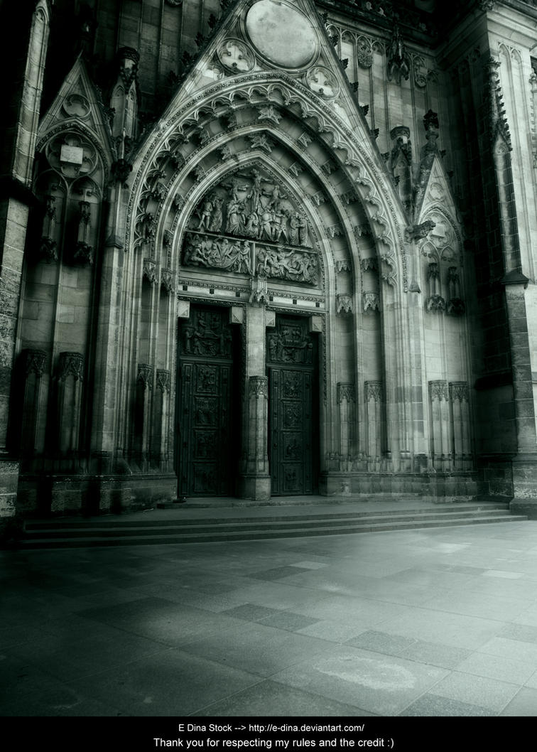 Premade BG The old Cathedral by E-DinaPhotoArt