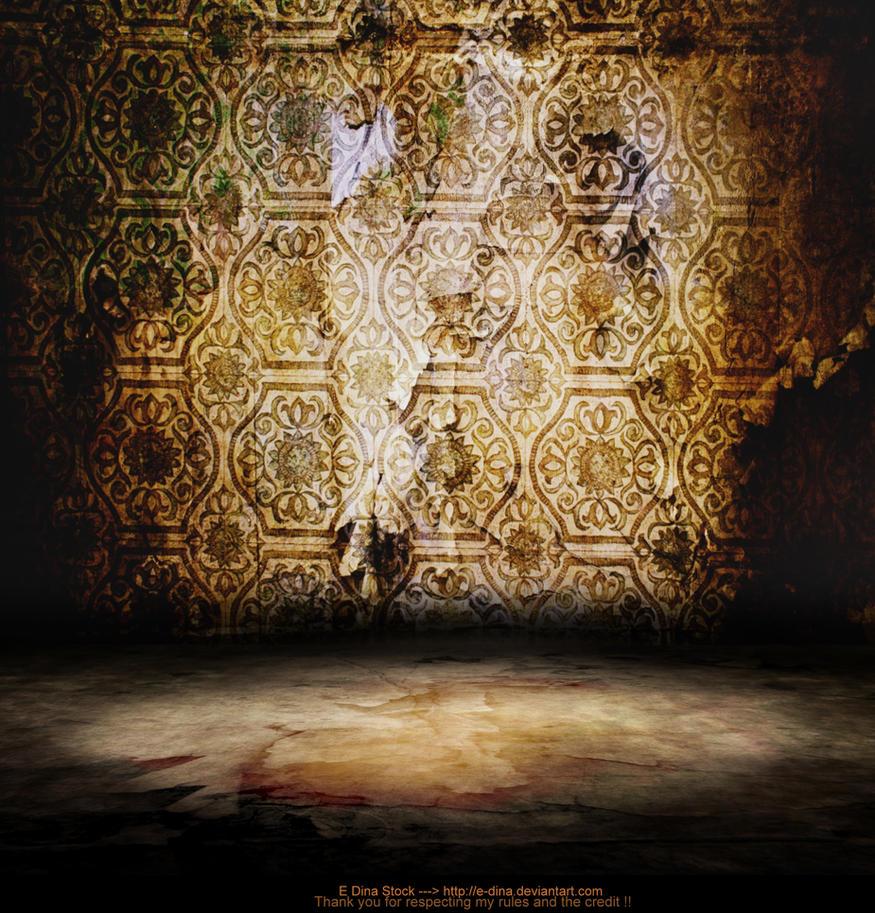 Premade BG The golden Room by E-DinaPhotoArt
