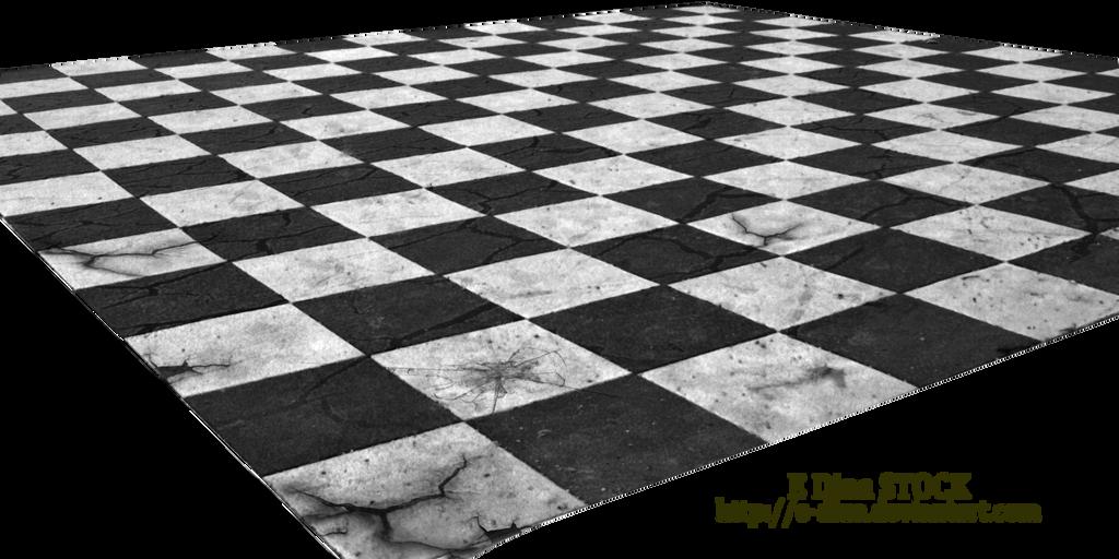 HQ PNG Stock Chessboard Floor broken by E-DinaPhotoArt