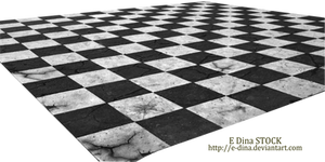 HQ PNG Stock Chessboard Floor broken