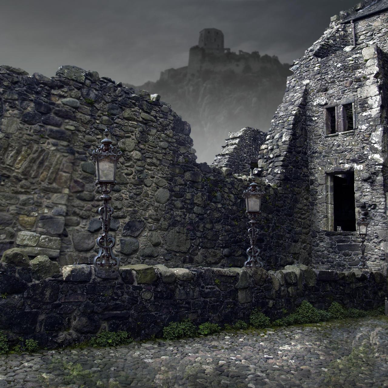 Premade BG Ruin 2 by E-DinaPhotoArt