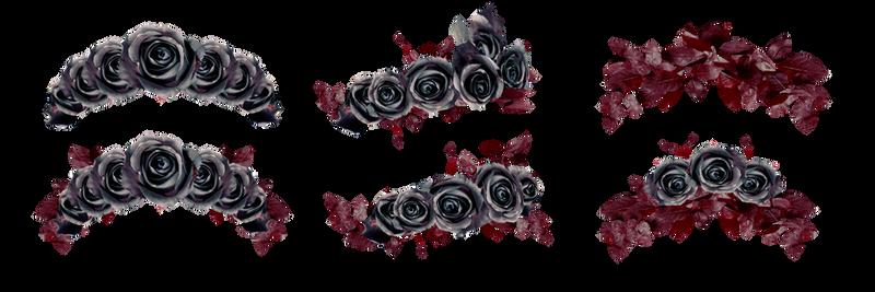 PNG Stock Floralwreath dark roses