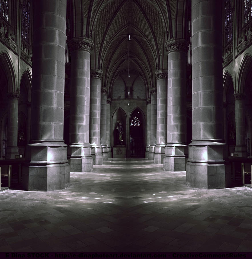 Premade bg cathedral indoor by e dinaphotoart on deviantart for Premade columns