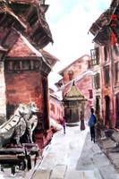 Nepali Street by abhashthapa