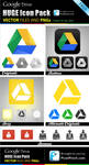 New Google Drive Free Vector and PNG Icon Pack