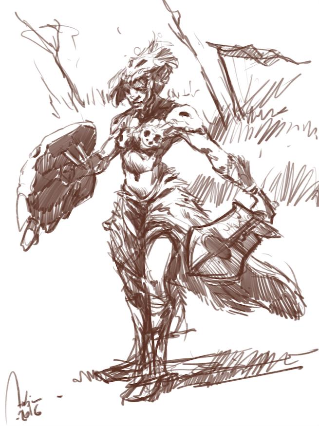 Orc Girl by Hykhen