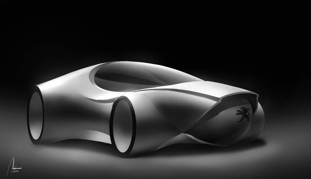 Peugeot car design by Hykhen