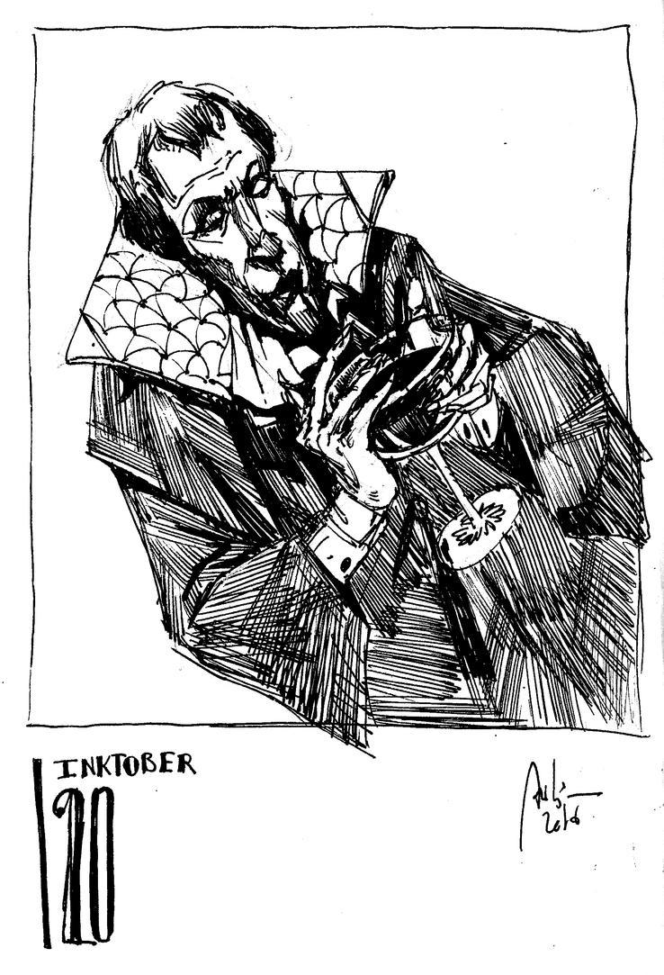 Inktober 20 - THIRSTY by Hykhen