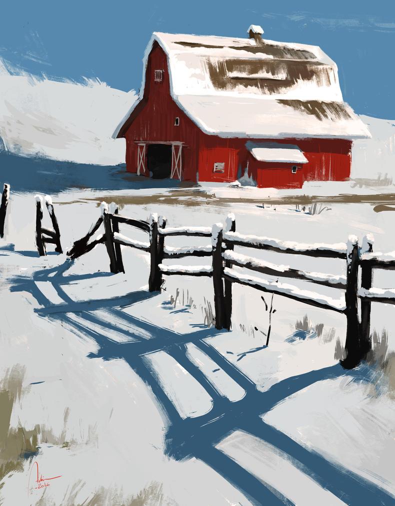 Red Barn by Hykhen