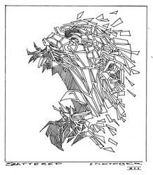 Inktober 12 - Shattered by Hykhen