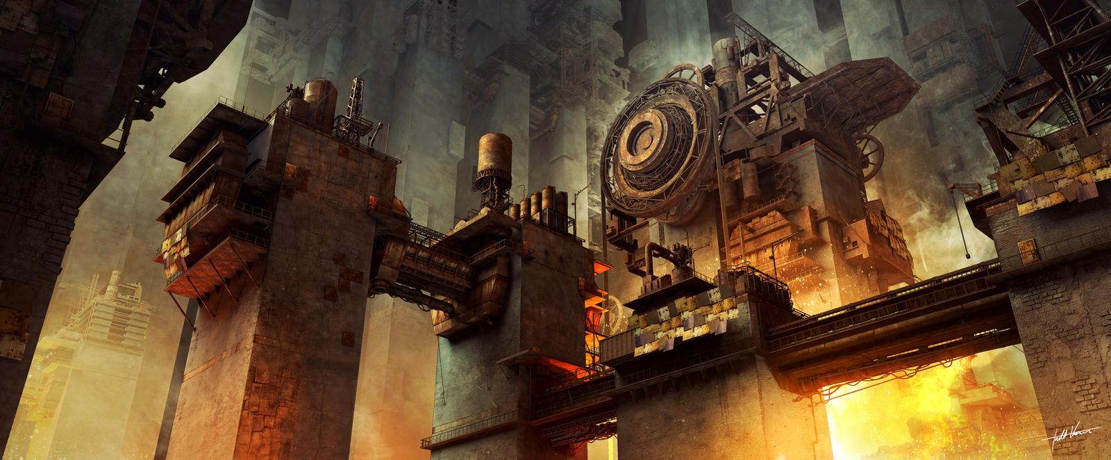 Galeria de Arte: Ficção & Fantasia 1 Hellfire_quarry_by_darkki1-d72bmec