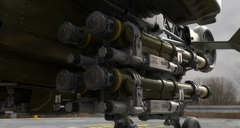 Heavy Drone rocket pods by Darkki1