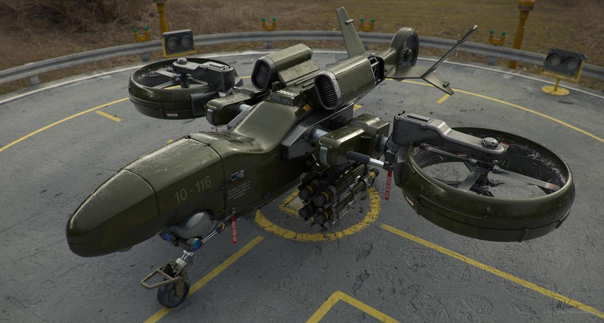 Heavy Drone 02 by Darkki1
