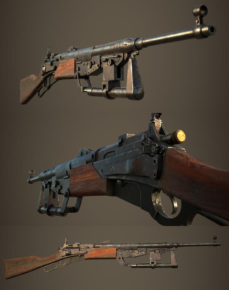 Dieselpunk leverlock carbine by Darkki1