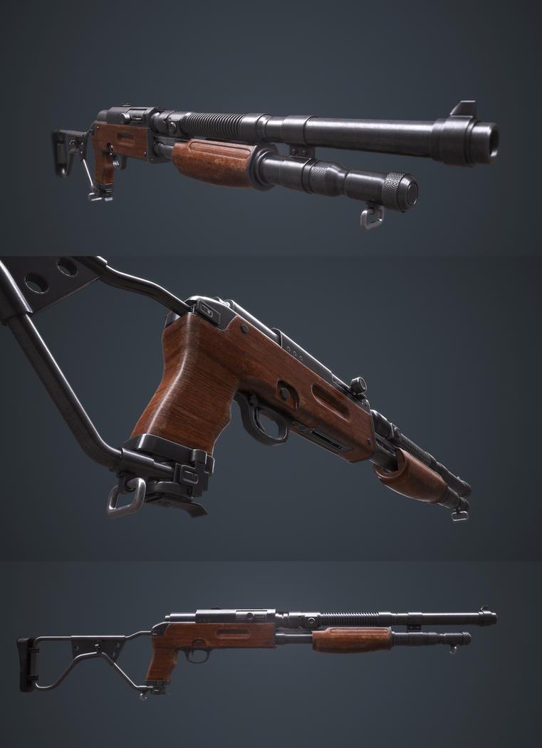 Dieselpunk trench shotgun by Darkki1