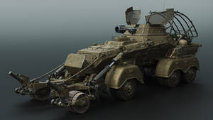 Squad support vehicle -front by Darkki1