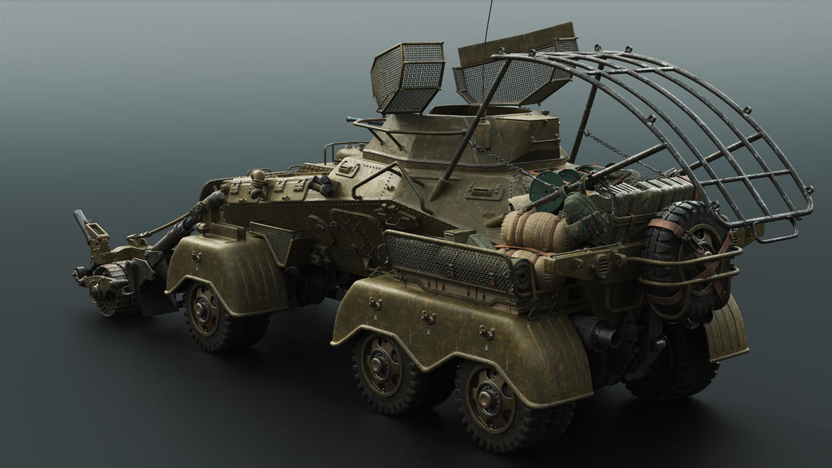 Squad support vehicle -back by Darkki1