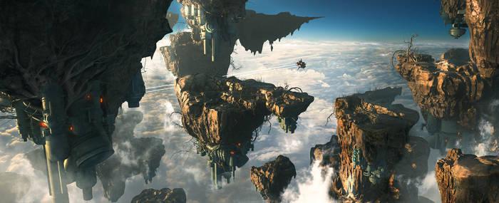 Axelay - Unkai, sea of clouds
