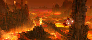 Axelay - Level 5, lava planet refineries