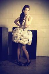 Newspaper dress by Bycia96
