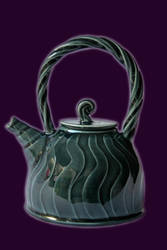 Blue-green teapot by Yitchie