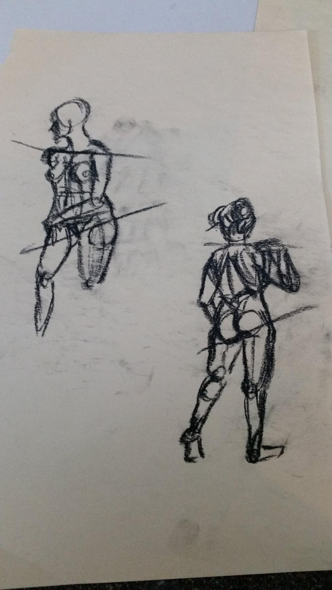 Life Drawing - 2: Focusing on Fullness of Figure by GreekGeekOfGuelph