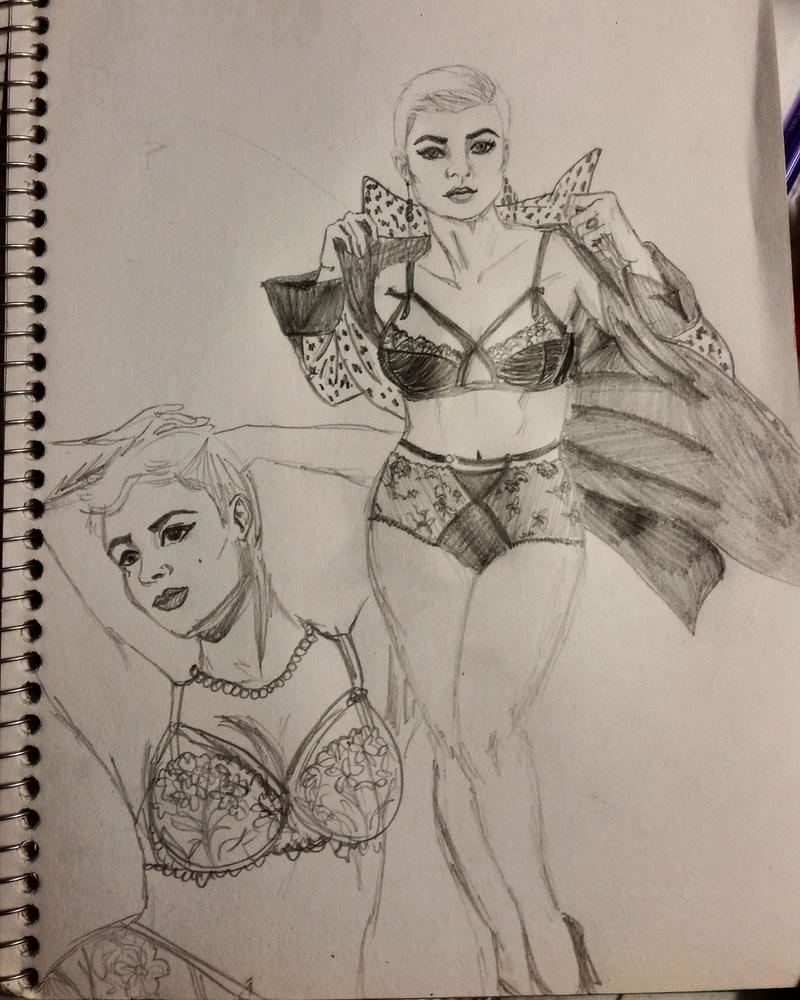 Stefania Ferrario - Sketches by GreekGeekOfGuelph