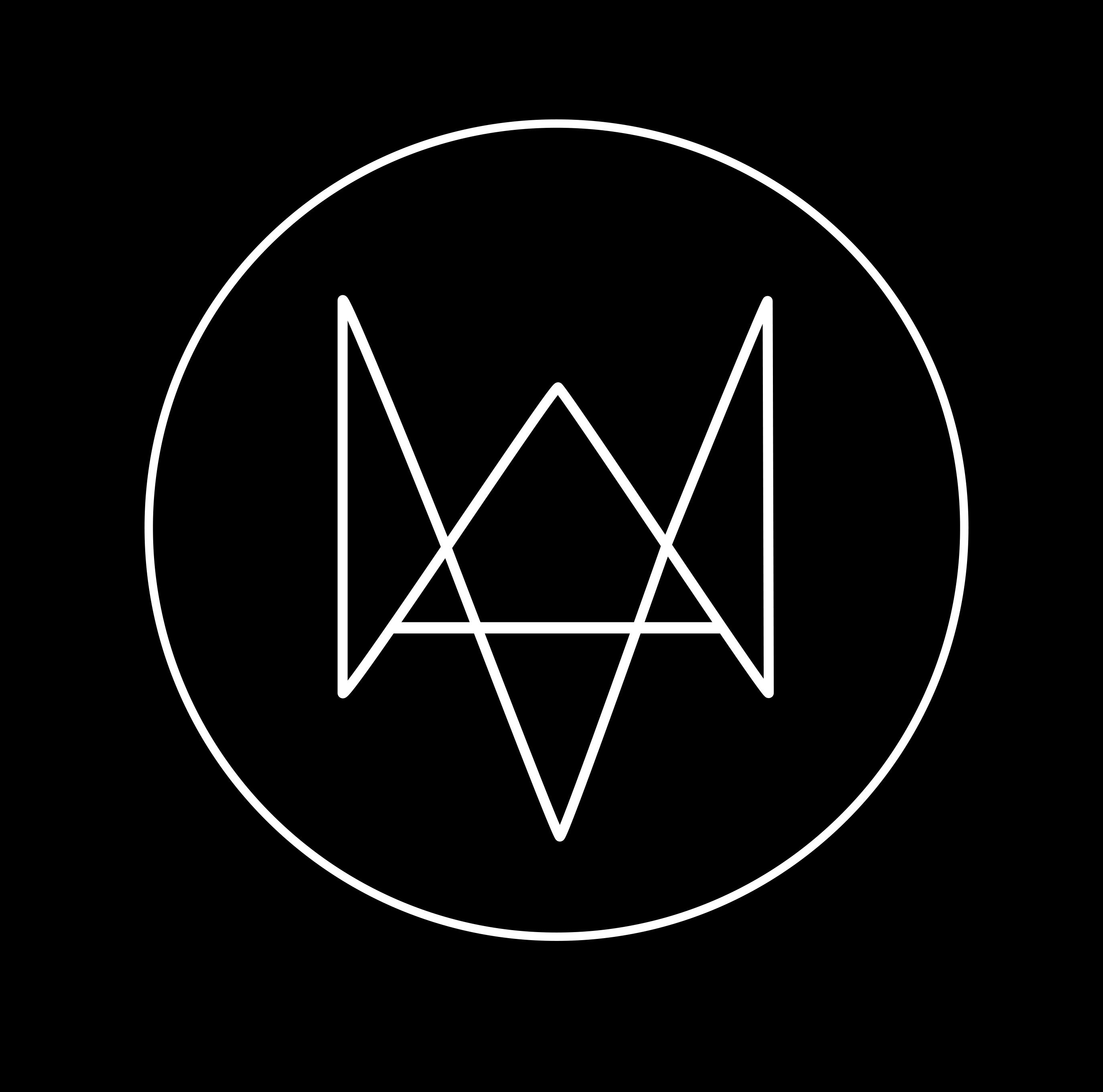 Watch Dogs  Logo Mobile Wallpaper
