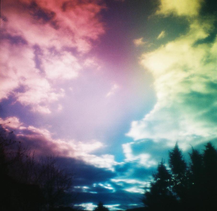 Rainbow Sky by DottedDress