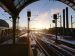 Spandau track apron - sunrise winter