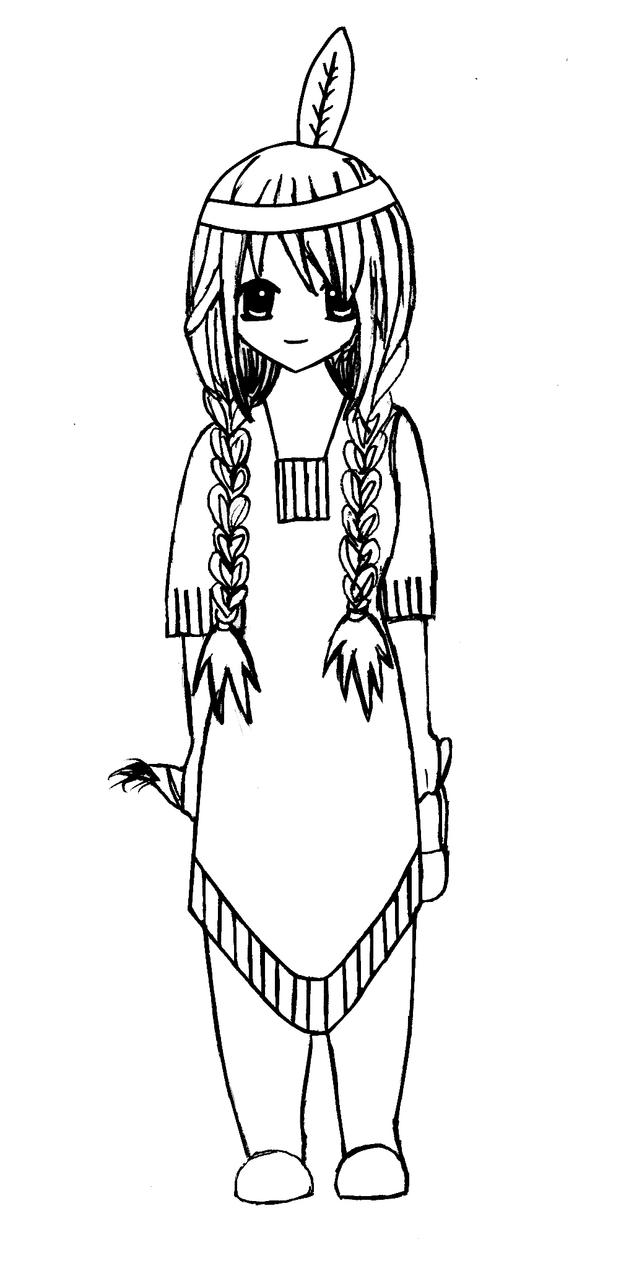 Native American Indian Girl By Xdrawingsx On DeviantArt