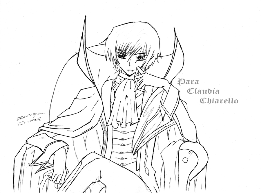 how to draw lelouch full body