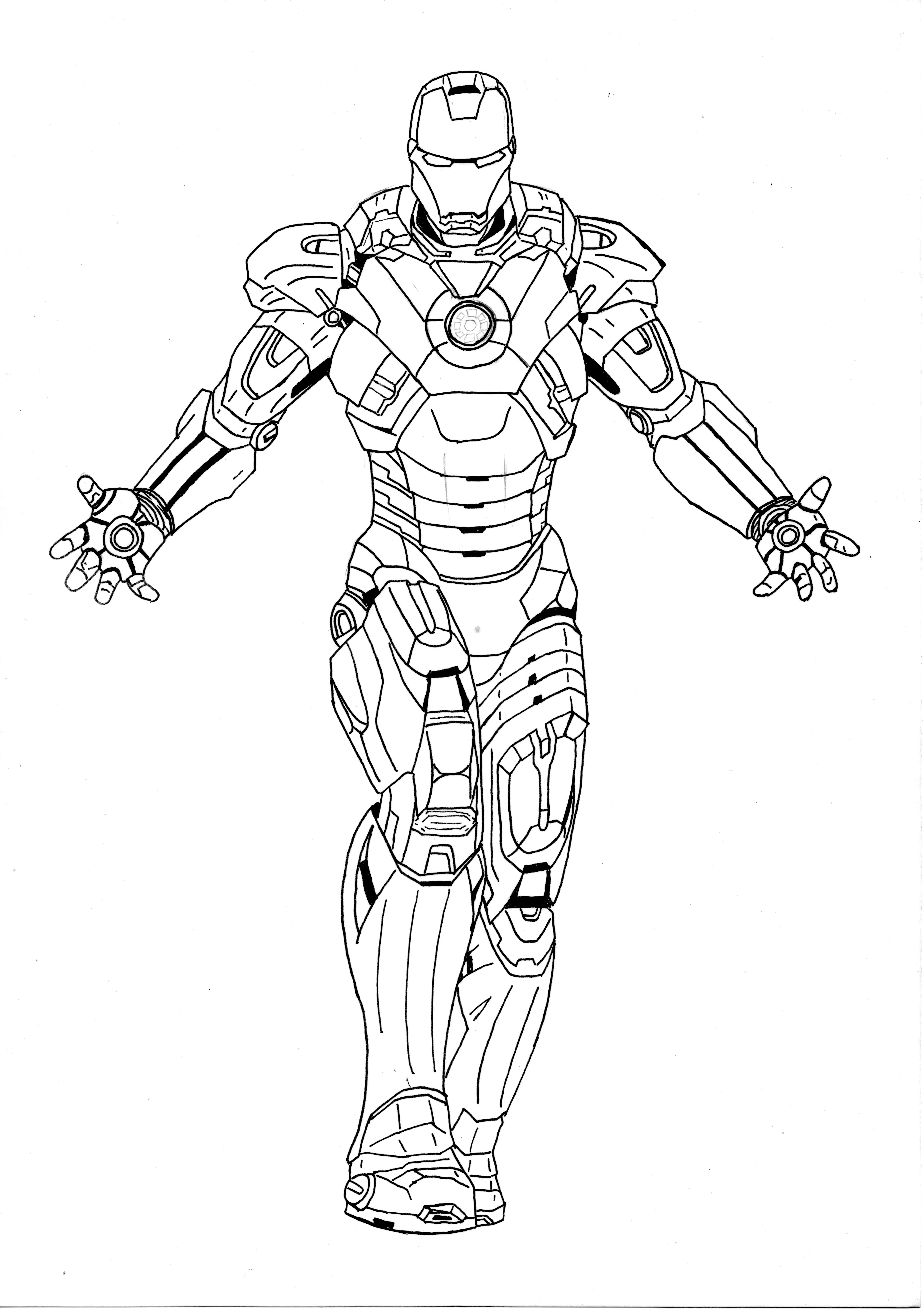 mark 8 coloring pages | Iron Man - MARK VII by l-cardoso on DeviantArt