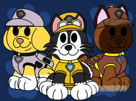 Paper Mario Style RQ. No. 7: Pup Trio