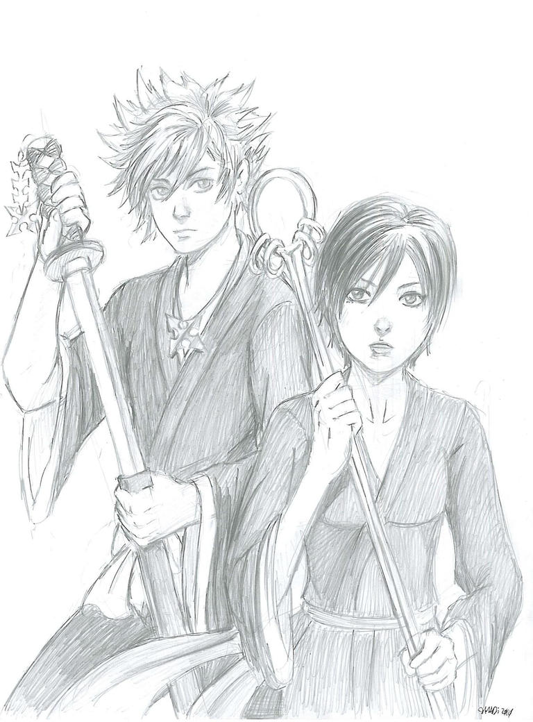 Roxas + Xion as Ichigo + Senna by digipinky75910