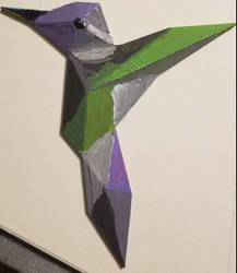 Low poly hummingbird.