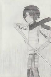 Samurai warrior OC: Koujaku Ishikawa by TheARTIST-4