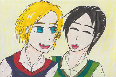 Thor and Loki as kids by TheARTIST-4
