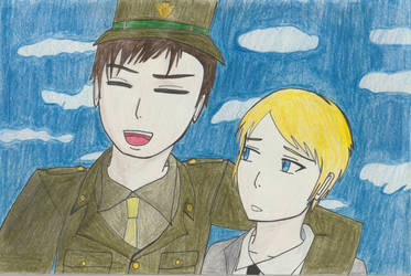 Bucky and Pre-Serum Steve by TheARTIST-4