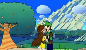 NSMBWIIU Luigi x Daisy