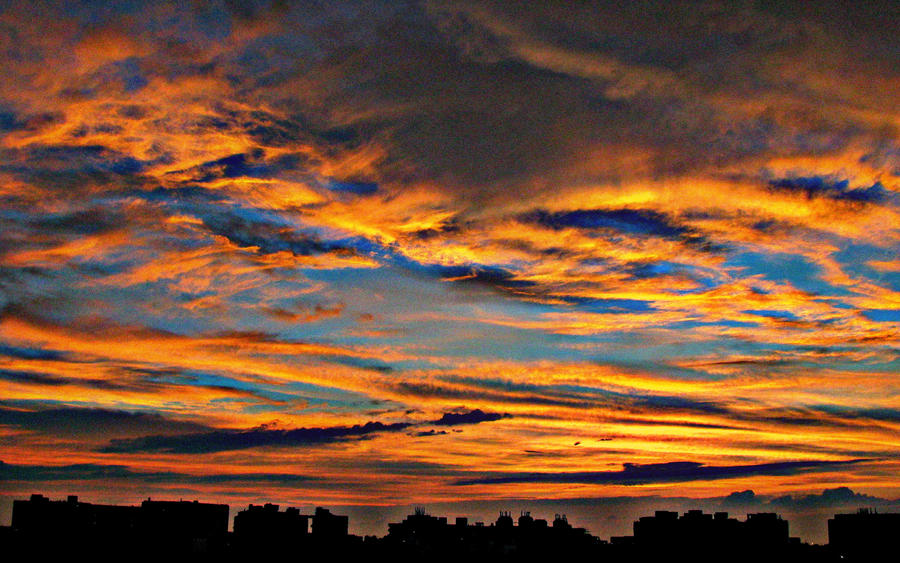 Sunset from my balcony - HDR