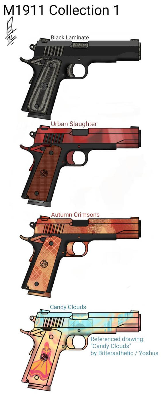 M1911 Skin Collection 1 by mrthompsonpro