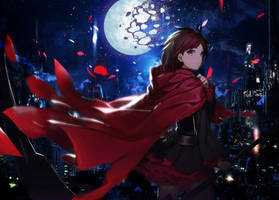 RWBY Ruby Rose Moving Background for Mobile