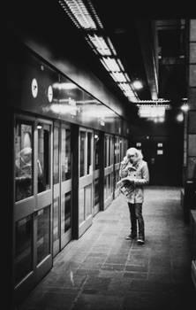 La lueur du metro.