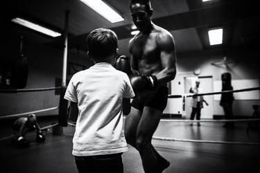 La salle de boxe. by leingad